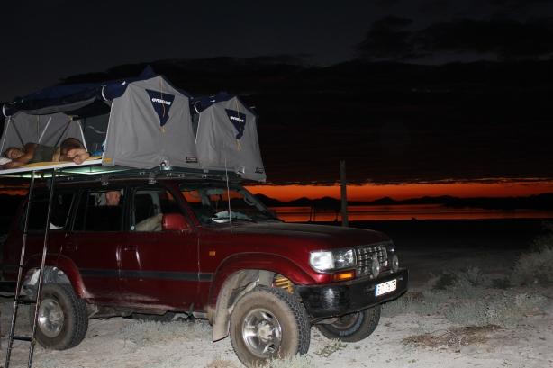 Camping on beach - Baja California