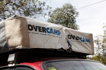 Strengthening of the corners of tent-cover