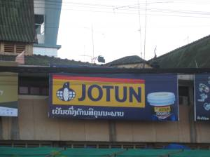 Jotun, the only norwegian brand we have seen in the road.